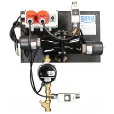 Suevia keringtetős fűtőegység itatóhoz 6kW/400V visszatérőági hőmérséklet szabályzóval