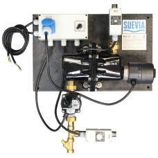 Suevia keringtetős fűtőegység itatóhoz 3kW/230V visszatérőági hőmérséklet szabályzóval