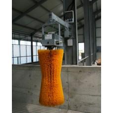Elektromos tehén vakaró kefe (vertikális, lengő, sárga)